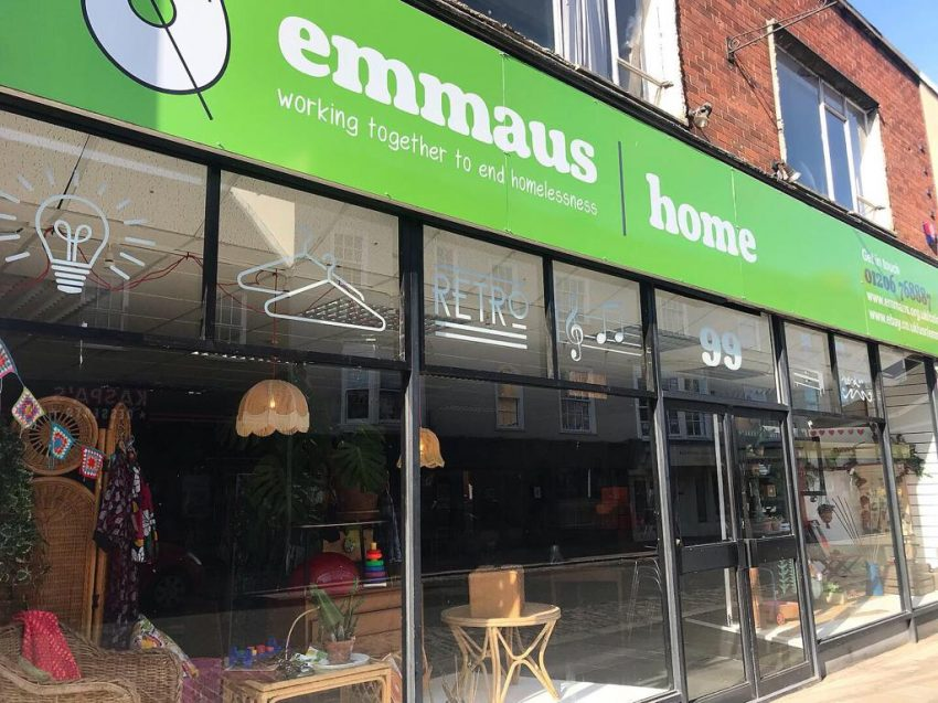 """Emmaus Colchester """" Home Store """" charity shop"""