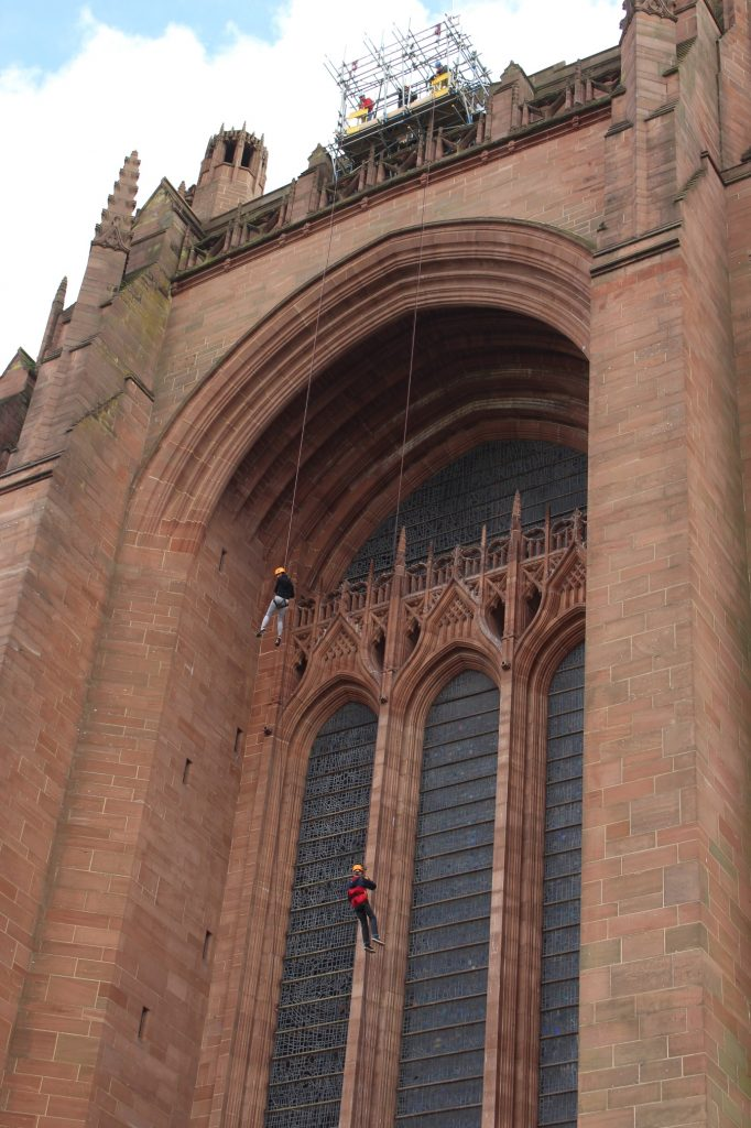Liverpool Cathedral Abseil - St Joseph's Hospice