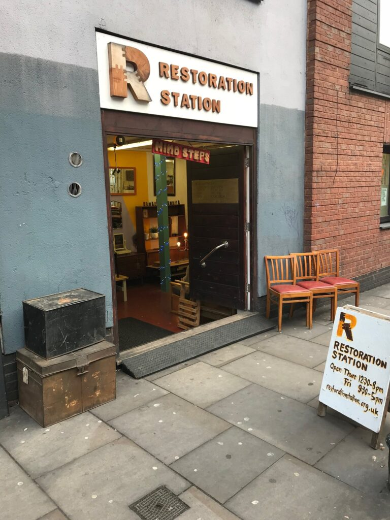 Restoration Station, Spitalfields Crypt, Shoreditch, London,